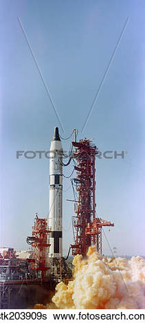 Stock Images of Launch view of the Gemini.