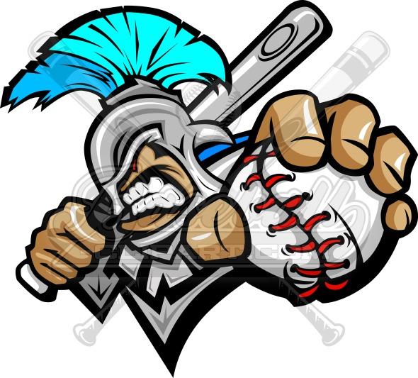 Titan Baseball Vector Cartoon.