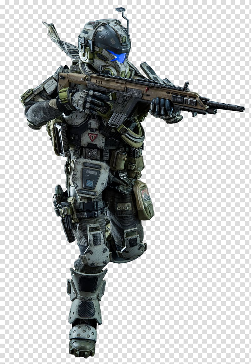 Titanfall 2 Xbox 360 Video game, pilot transparent.