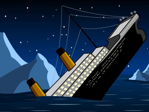 Clipart titanic ship.