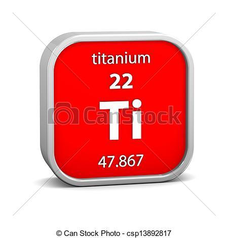 Clipart of Titanium material sign.