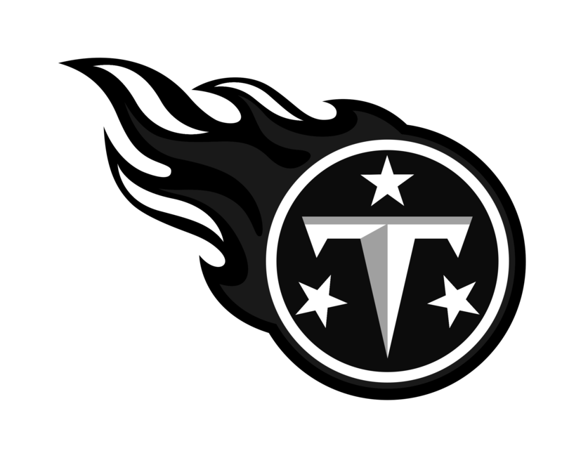 Download Free png Tennessee Titans logo black a.
