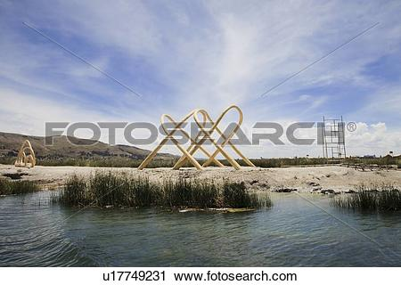 Stock Photography of Lake Titicaca, Peru, Latin America u17749231.