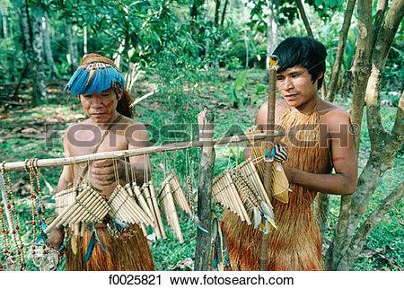 Stock Photography of Peru, Amazonia, Yagua Indians f0025821.