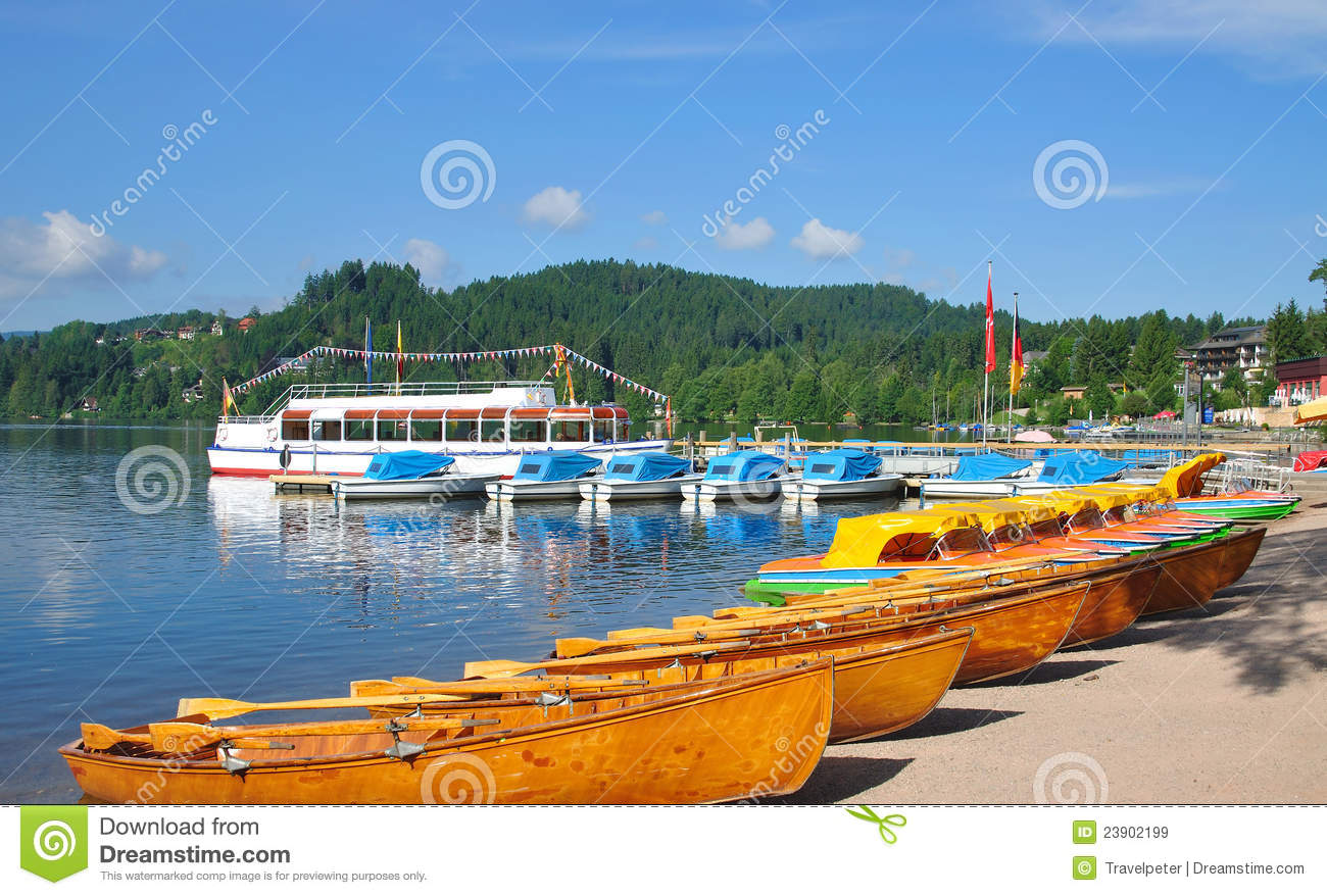 Lake Titisee,Black Forest,Schwarzwald,Germany Royalty Free Stock.