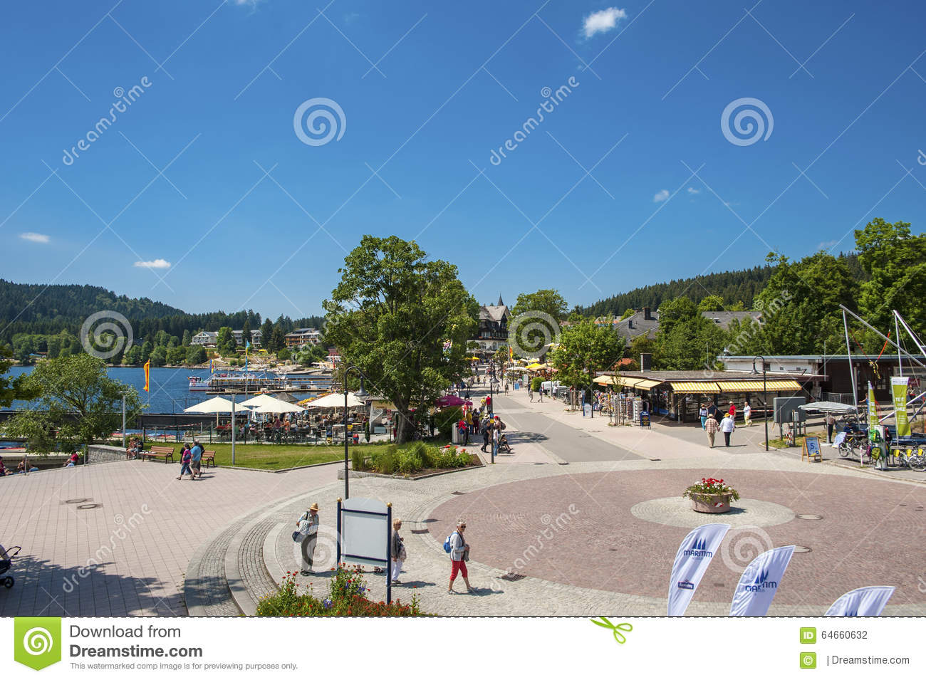 The Promenade In Titisee.