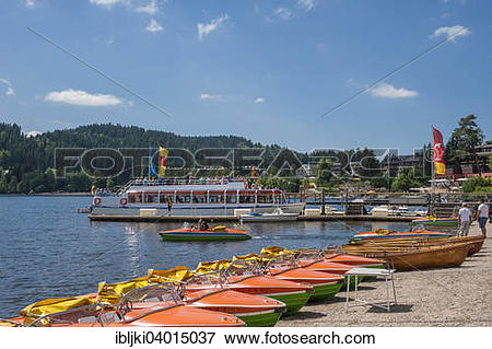 "Picture of ""Boat rental, Titisee."