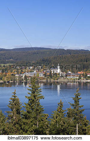 "Stock Image of ""Lake Titisee in autumn, Titisee."