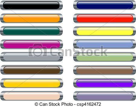 Vector Illustration of Set of Web Bars with silver metallic.