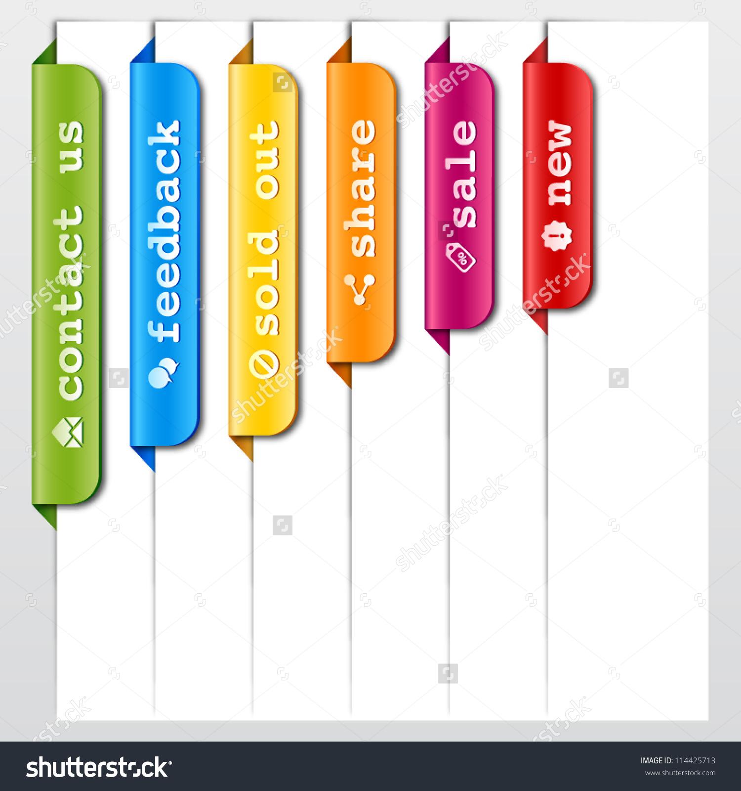 Elements Design Web Titles Stock Vector 114425713.