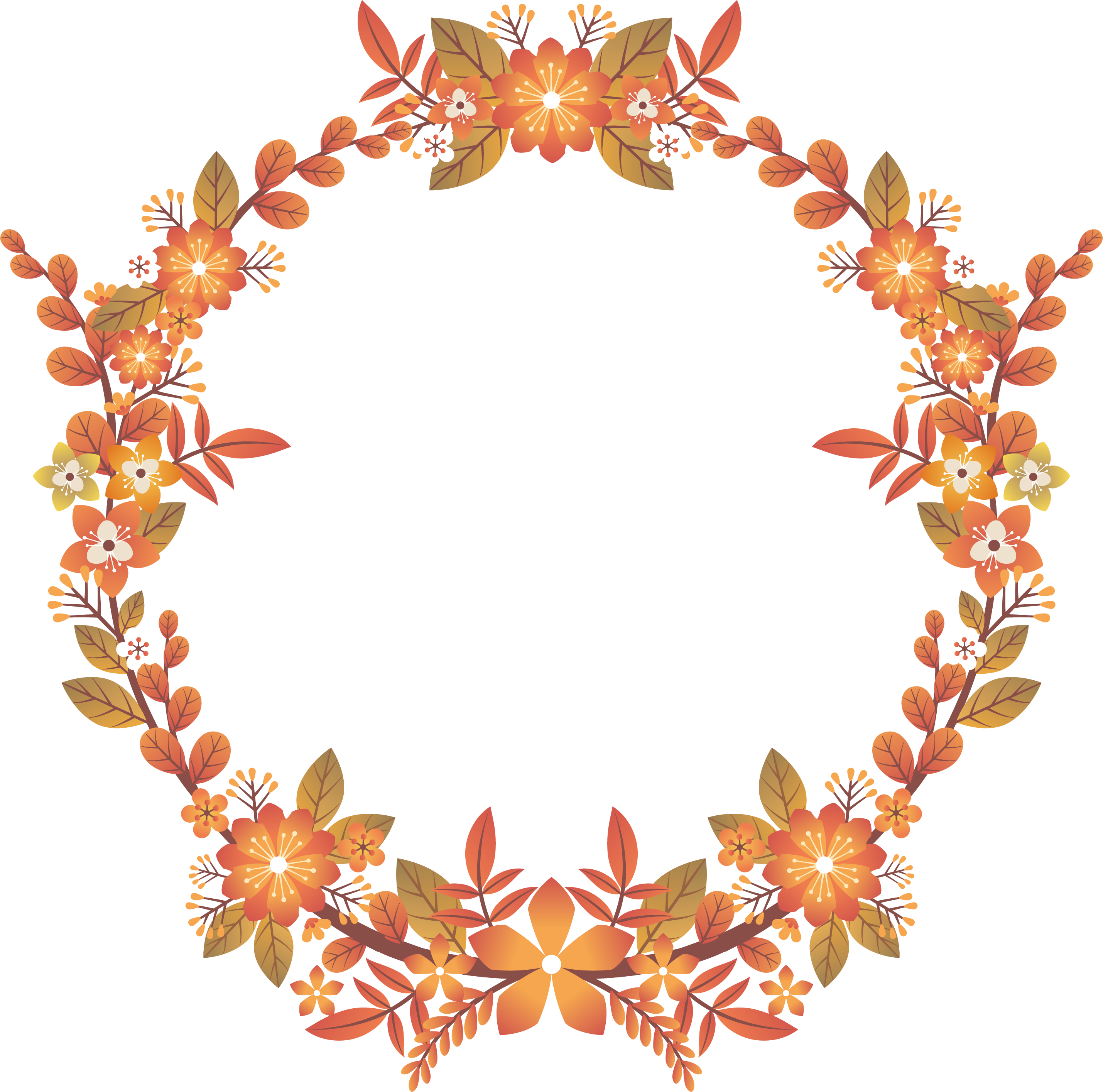 Euclidean Autumn Beautiful Flower Title Box Transprent.