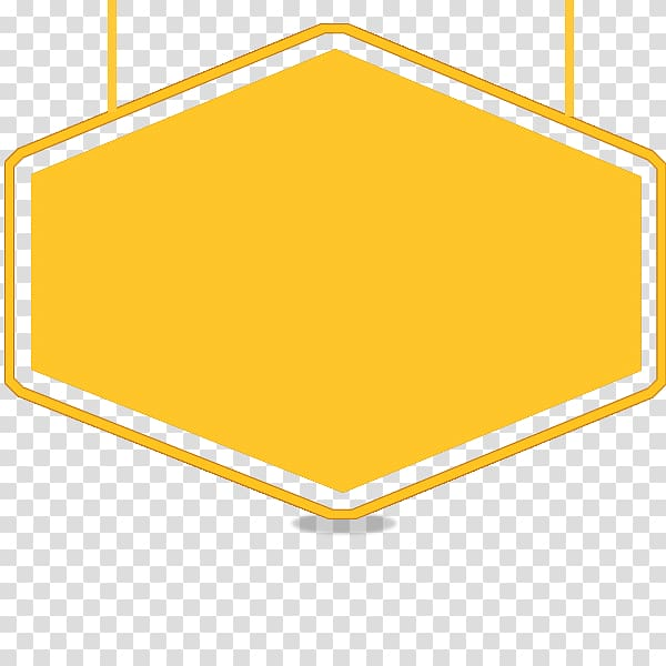 Frame , Title frame, yellow sign background transparent.
