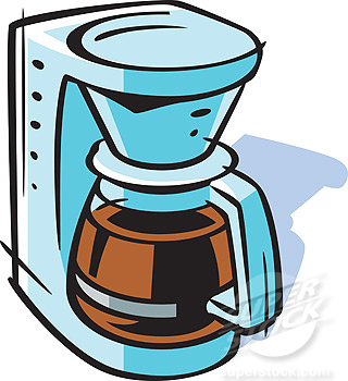 Drawing of a coffee maker » Clipart Station.