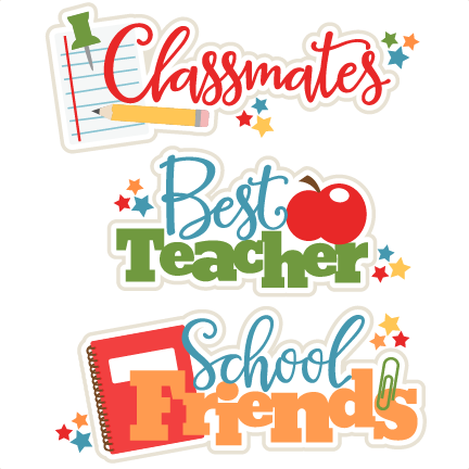 School Class Titles Set SVG scrapbook cut file cute clipart files.