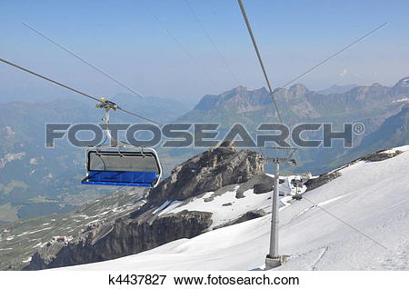 Picture of Chairlifts at Mount Titlis k4437827.
