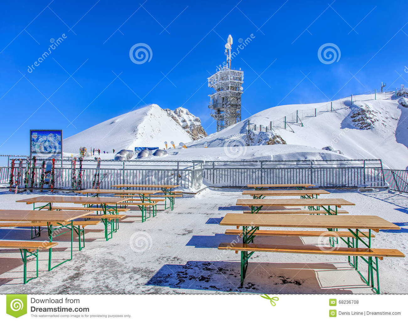 View On The Top Of Mt. Titlis In Switzerland Editorial Image.