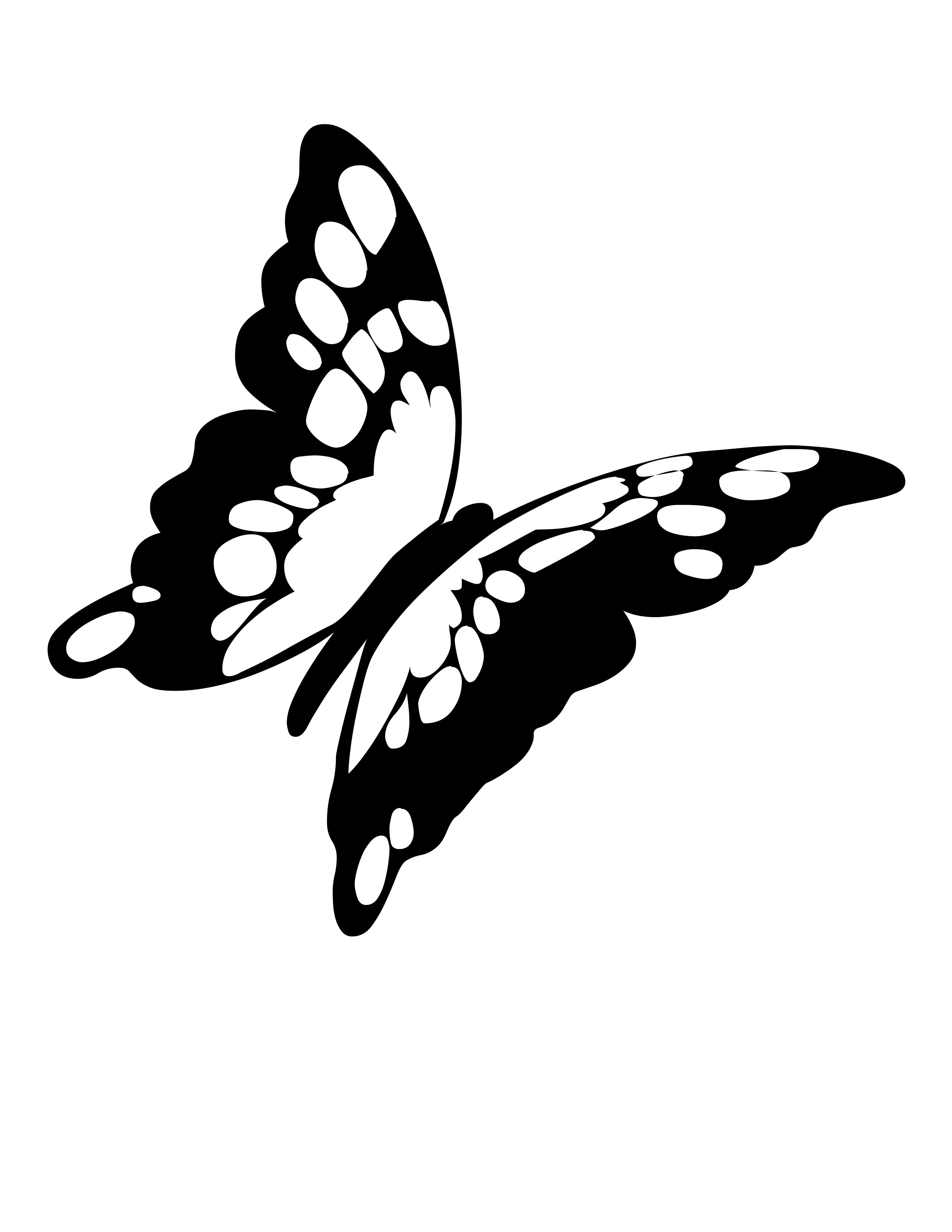 Monarch Butterfly Outline.