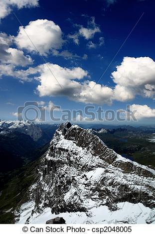 Stock Bilder von bedeckt, titlis, Schnee, berg.