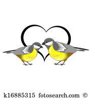 Titmice Clip Art Vector Graphics. 25 titmice EPS clipart vector.