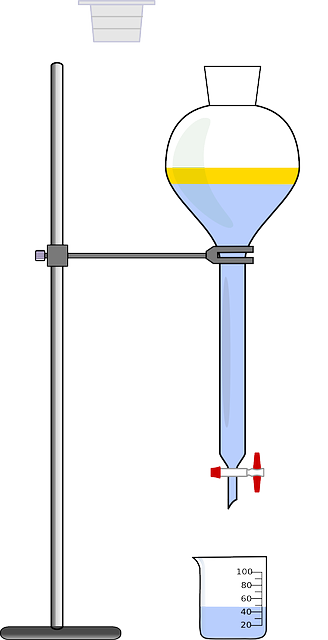 Free vector graphic: Titration, Chemistry, Funnel.