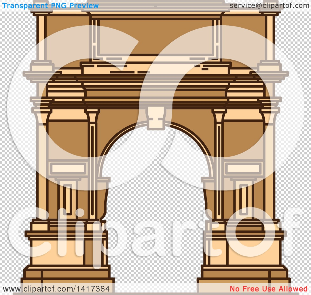 Clipart of a Italian Landmark, Ancient Arch of Titus.