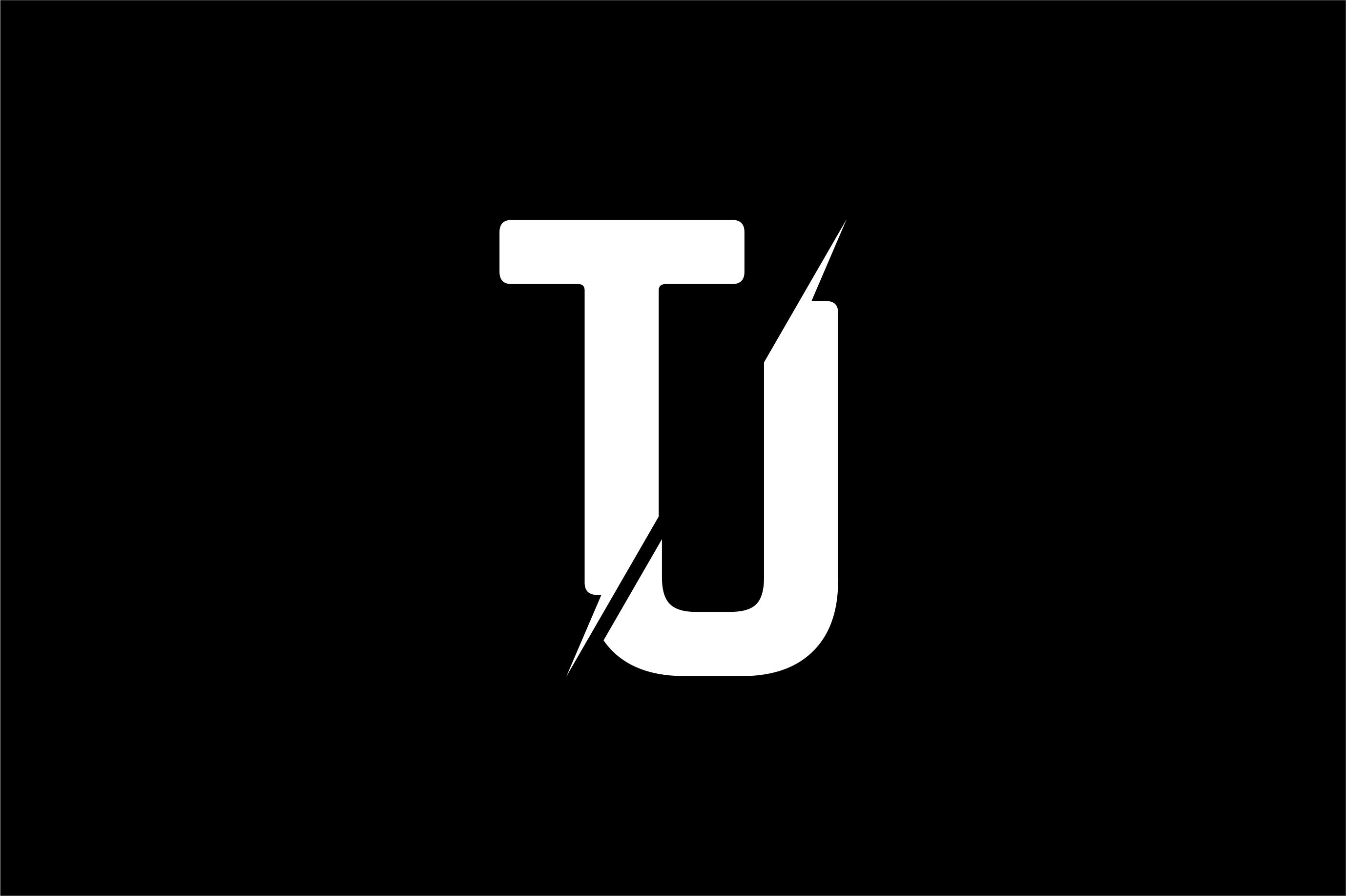 Monogram TJ Logo Design.