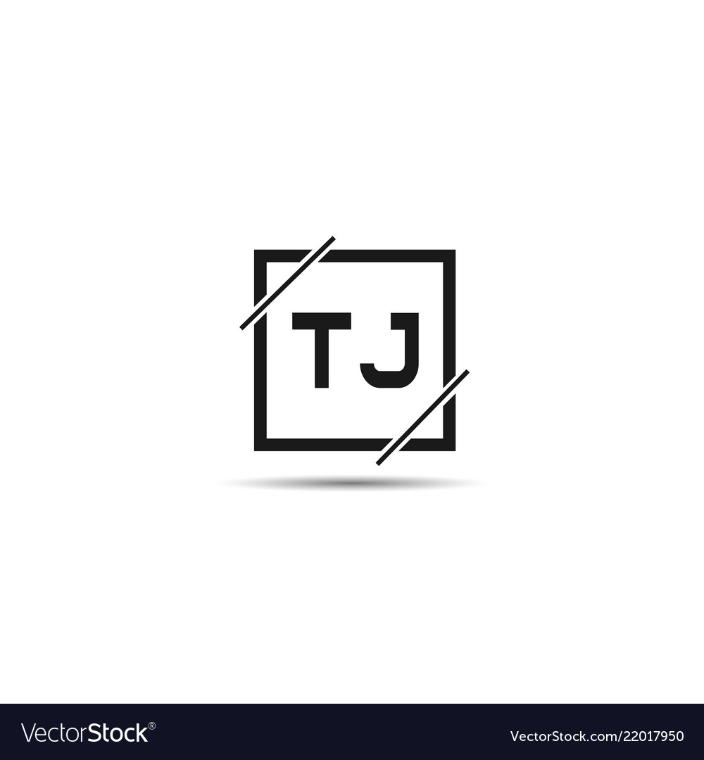 Initial letter tj logo template design.