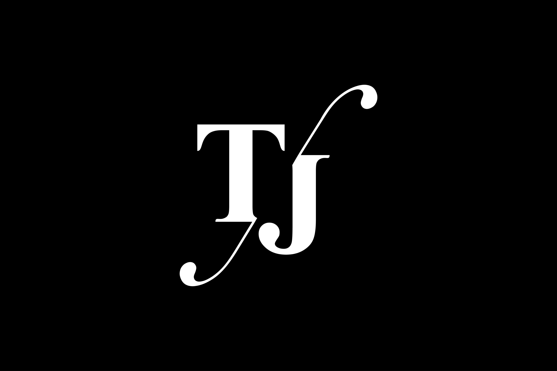 TJ Monogram Logo design By Vectorseller.