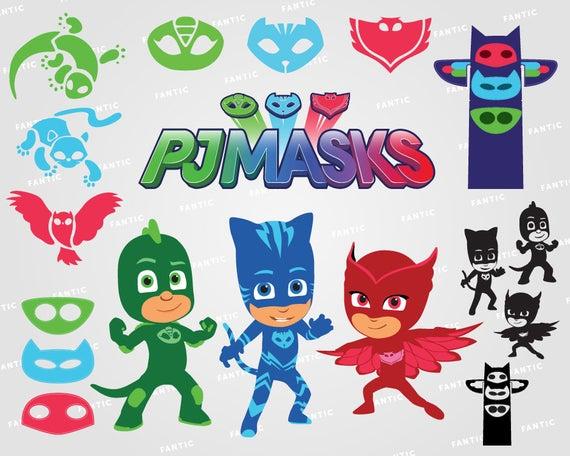 PJ Masks clipart silhouette.