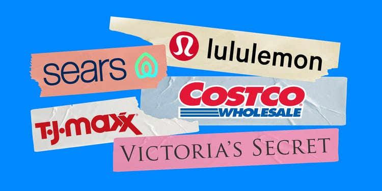 Sears, TJ Maxx, Lululemon: biggest retail winners and losers.
