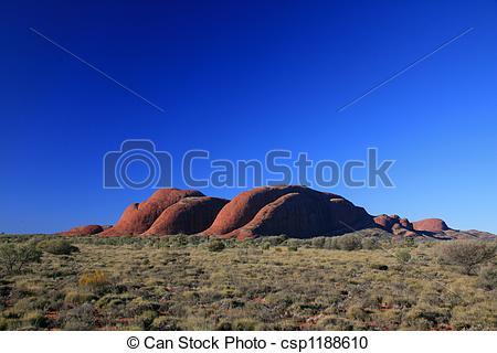 Stock Photography of Kata Tjuta, the Olgas, Australia csp1188610.