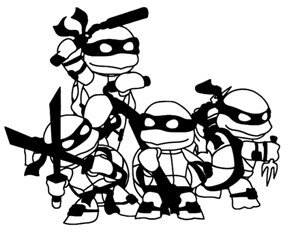 Teenage Mutant Ninja Turtles Clipart Black And White.