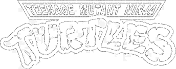 Teenage Mutant Ninja Turtles PNG Black And White Transparent.