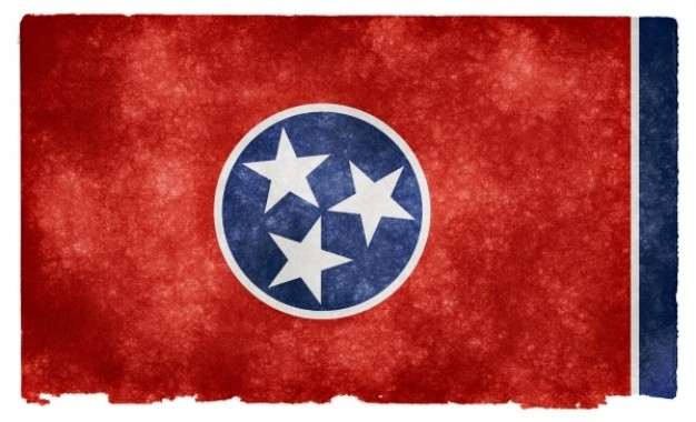 Tennessee grunge flag Photo.