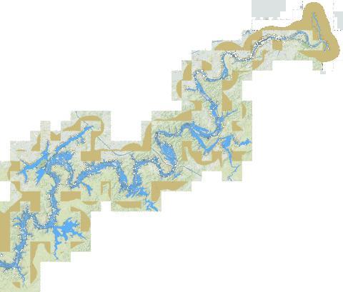 Tennessee River mile 606 to mile 652 (Marine Chart : US_U37TN606.