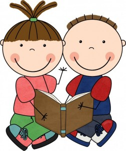 Books are our best friends clipart.