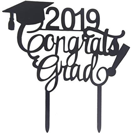 Amazon.com: Awyjcas 2019 Congrats Grad Cake Topper.