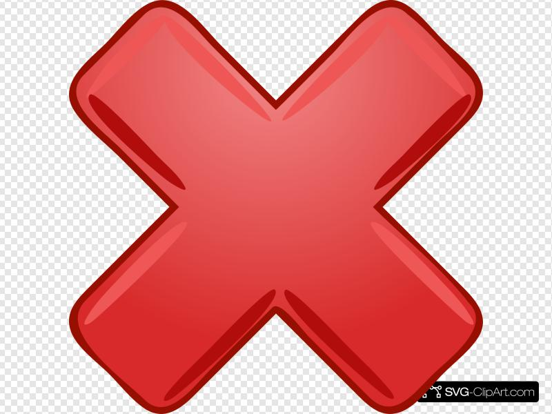Red X Cross Wrong Not Clip art, Icon and SVG.