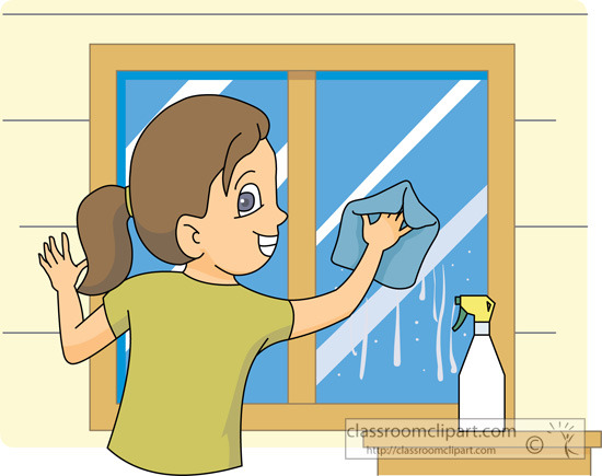 Clean The Window Clipart.