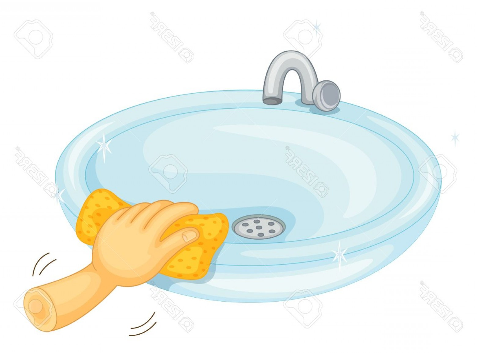 cleaning bathroom sinks to clean themselves clipart clipground 12349