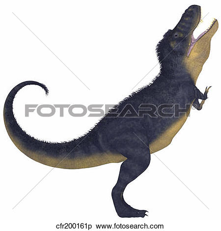 Stock Illustration of Tyranosaurus Rex, a large carnivore of the.