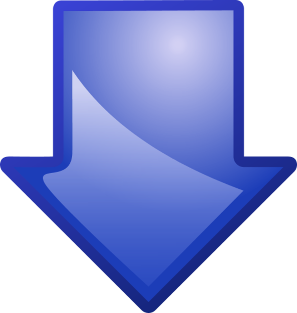arrow blue down.