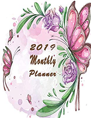2019 Monthly Planner: Organizer to Do List January.