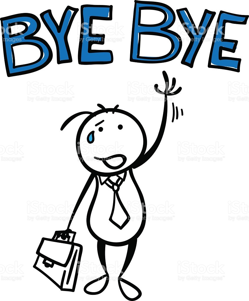 Time To Say Goodbye Clipart.