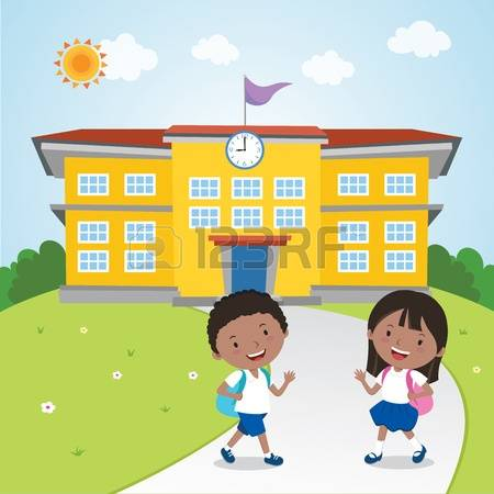 2,069 Walking School Stock Vector Illustration And Royalty Free.
