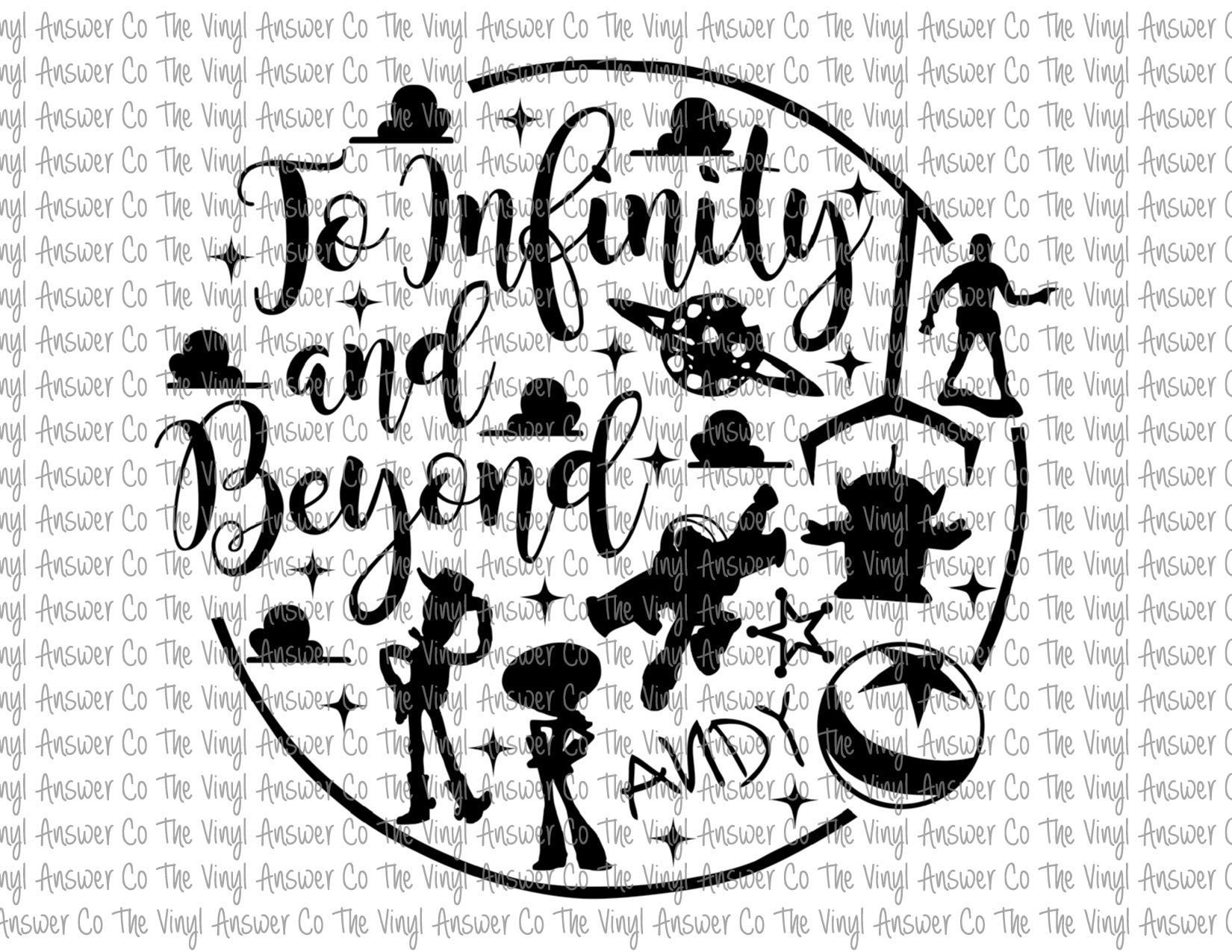 Digital Download Disney Toy Story To Infinity and Beyond SVG.