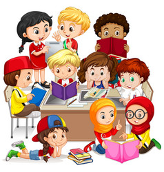 Children Learn Clipart Vector Images (over 1,300).