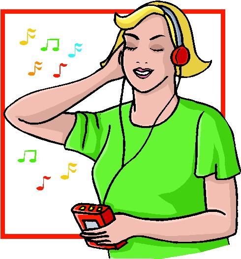 To Listen to Music Clip Art.