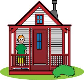 Live In A House Clipart.