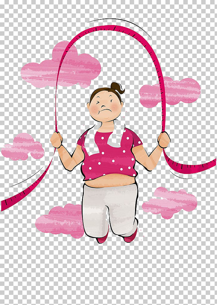 Jump Ropes , Fat girl jump rope to lose weight PNG clipart.